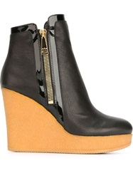Hogan Wedge Ankle Boots Black