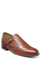 Stacy Adams Men's Madison Ii Monk Strap Shoe Cognac Leather