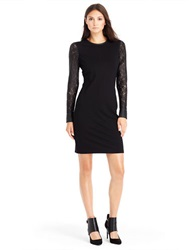 Kenneth Cole Trudy Lace Sleeve Dress Black