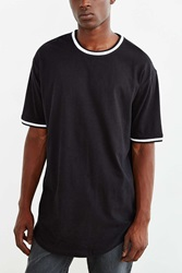 The Narrows Topped Ringer Scoop Tee Black