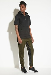 Forever 21 Intd Colorblock Drawstring Joggers Olive Black