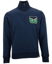 '47 Brand Men's Hartford Whalers Cross Check Quarter Zip Pullover Royalblue