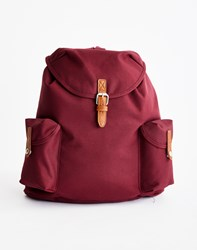 The Idle Man Vintage Rucksack Burgundy