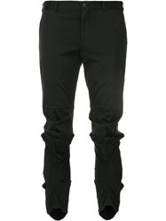 Comme Des Garcons Abstract Knee Trousers Black