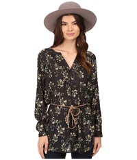 Only Louis Keen On Flower Tunic Jet Set Women's Clothing Black