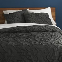 Cb2 Melyssa Carbon King Duvet Cover