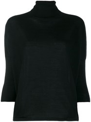 Ma'ry'ya Roll Neck Jumper Black