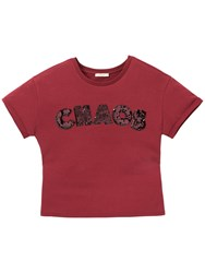 Lee Chaos T Shirt Dark Red