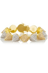 Eddie Borgo Silver And Gold Plated Crystal Cone Bracelet