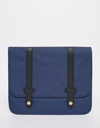 Asos Textured Ipad Case With Black Faux Leather Strap Blue