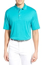 Men's Bobby Jones Solid Pima Cotton Jersey Polo Viridian Green