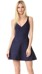 Herve Leger Suzanna Dress Pacific Blue