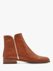 Joules Westminster Block Heel Ankle Boots Tan Leather