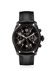 Montblanc Summit 2 Steel And Leather Smart Watch Black