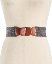 Inc International Concepts Beaded Stretch Belt Only At Macy's Black