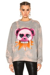 Acne Studios Fint Bear Sweater In Gray Pink Tie Dye And Ombre Gray Pink Tie Dye And Ombre