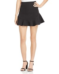 Aqua Flippy Mini Skirt Black