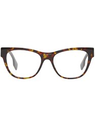 Burberry Square Optical Frames Brown