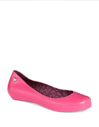 Mel Pop Bow Jelly Flats Pink