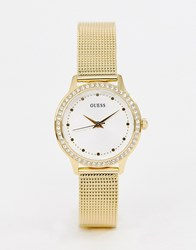 Guess W0647l7 Chelsea Mesh Watch Gold