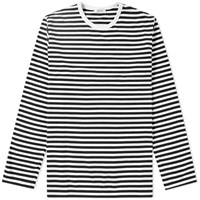 Nanamica Coolmax Stripe Long Sleeve Tee Black