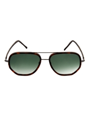 Cutler And Gross Square Aviator Style Sunglasses