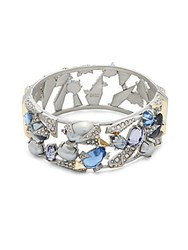 Alexis Bittar Multi Crystal Bangle Bracelet No Color