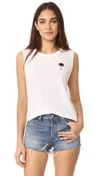 Pam And Gela Crew Neck Tank White