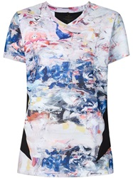 Lucas Hugh Paint Print T Shirt Multicolour