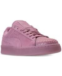Puma Women's Suede Jelly Casual Sneakers From Finish Line Prism Pink Prism Pink