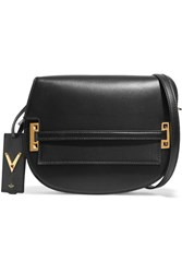 Valentino Satchel Leather Shoulder Bag Black