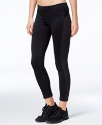 Ideology Id Warm Space Dyed Fleece Leggings Only At Macy's Noir Stripe