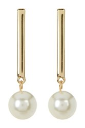 14Th And Union Imitation Pearl Drop Linear Earrings White