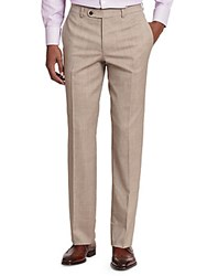 Jack Victor Stretch Wool Trousers Tan