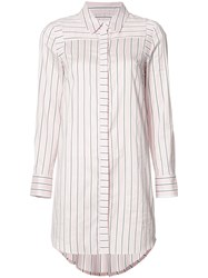 Milly Striped Shirt Dress Pink Purple