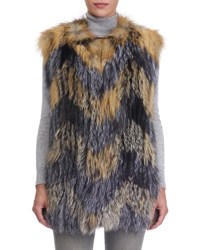 Gorski Cross Fox And Silver Fox Fur Vest Multi