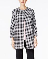 Charter Club Grid Print Topper Jacket Only At Macy's Deep Black Combo