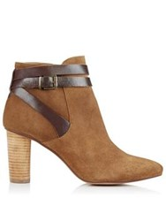 Hudson Mirla Suede Heeled Ankle Boots Tan