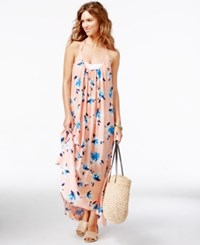 Vince Camuto Maxi Dress Printed Cover Up Women's Swimsuit Peach Rose