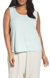 Eileen Fisher Plus Size Women's Silk Jersey Scoop Neck Tank