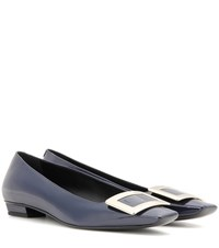 Roger Vivier Belle Patent Leather Ballerinas Blue