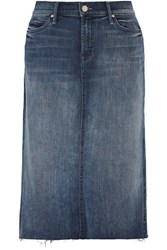 Mother Stretch Denim Skirt Mid Denim