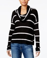 Chelsea Sky Striped Cowl Neck Sweater Only At Macy's Black White