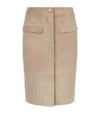 Reiss Raine Suede Skirt Female Neutral