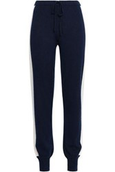 Madeleine Thompson Wool And Cashmere Blend Track Pants Midnight Blue