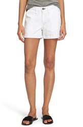 Rag And Bone Women's Rag And Bone Jean 'Carpenter' Cuffed Denim Shorts Aged Bright White