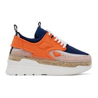 Kenzo Orange K Lastic Sneakers