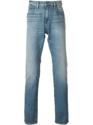 Frame Denim Slim Fit Trousers Blue