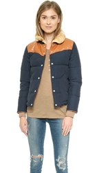 Penfield Rockwool Shearling Collar Down Jacket Navy