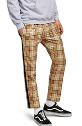 Topman Check Jogger Pants Stone Multi